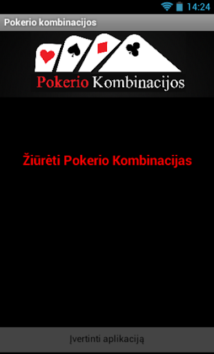 Pokerio kombinacijos - rankos