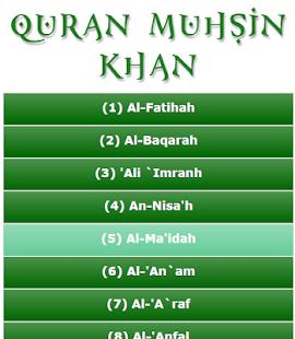 Free Quran Muhsin Khan APK