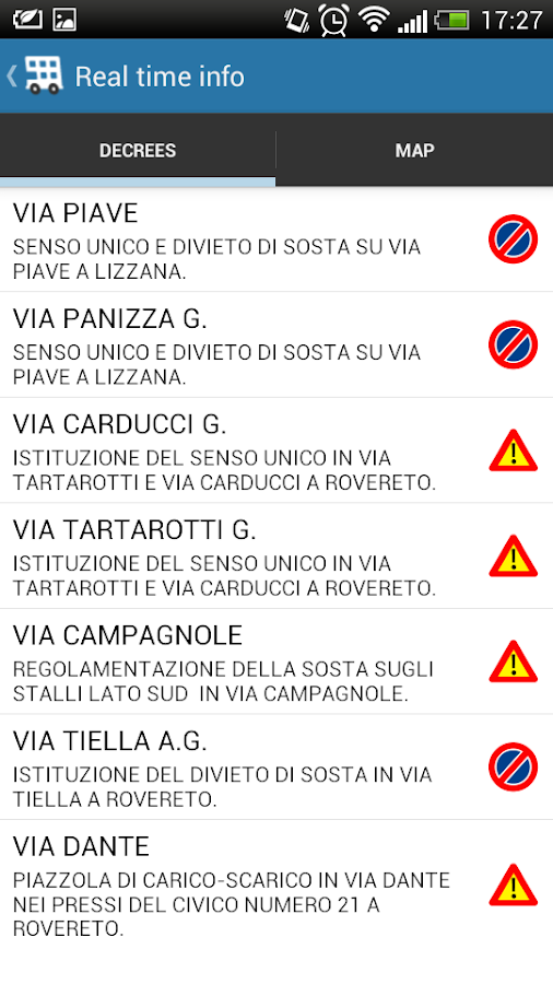 ViaggiaRovereto - screenshot