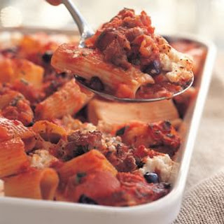 Baked Rigatoni with Ricotta and Sausage