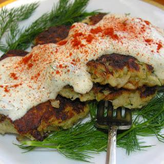 Latkes With Salmon And Dill Rémoulade.