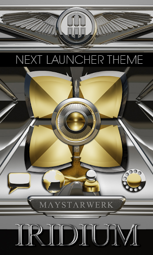 Next Launcher Theme Iridium