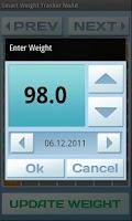 Screenshot of Smart Weight Tracker Ad Free