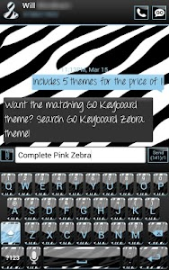 Complete Blue Zebra Theme screenshot 3