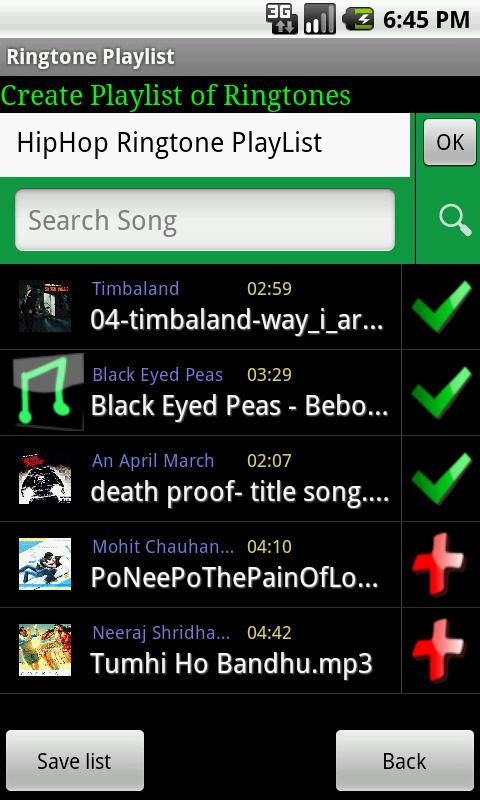 Ringtone Playlist Pro - screenshot