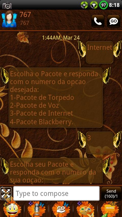 Butterfly GO SMS Theme- screenshot