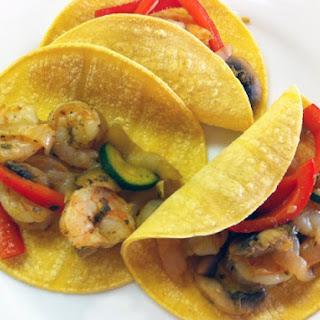 Shrimp and Veggie Fajitas