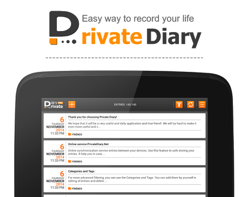 Screenshot for Private DIARY Pro - Personal journal in United States Play Store