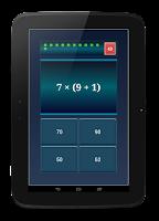 Screenshot of Arithmetic Practice