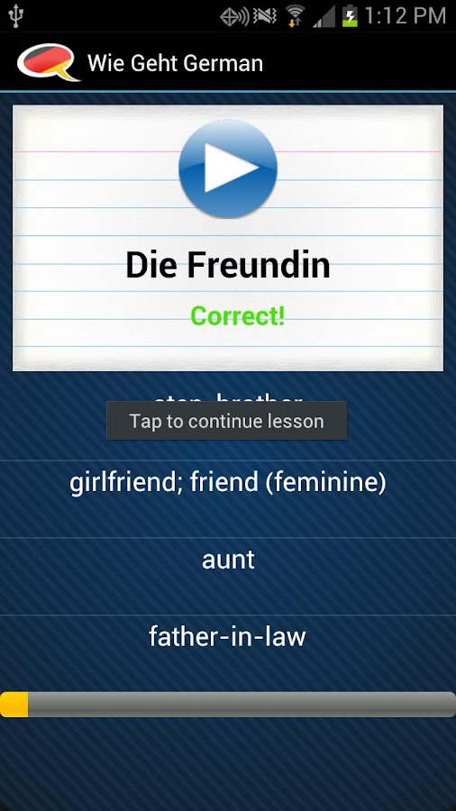 Learn German - Wie Geht's - screenshot