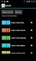 Screenshot of Metro clock uccw skin