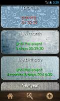 Screenshot of Countdown calendar