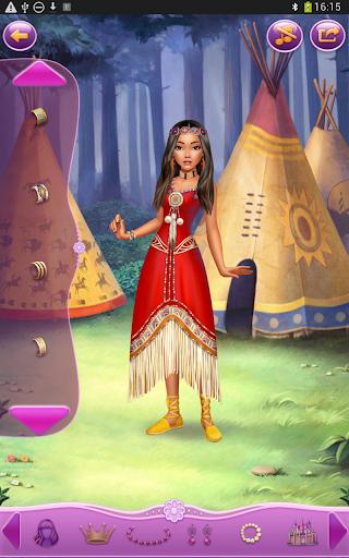 Dress up Princess Pocahontas