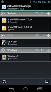 VirtualBox Manager- screenshot thumbnail