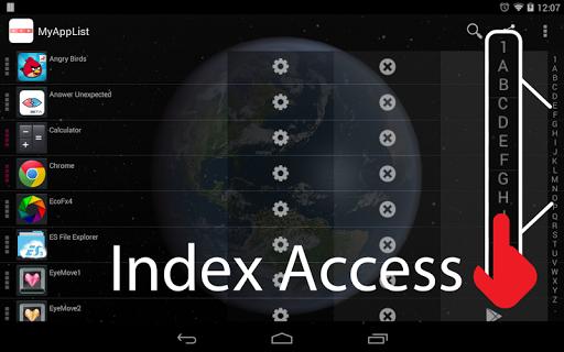 私のアプリ一覧:インデックス・スクロールバーで簡単アクセス|玩生產應用App免費|玩APPs