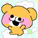 Teddy bear bounce icon