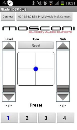MOSCONI GLADEN DSP Control