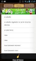 Screenshot of English Spanish Dictionary