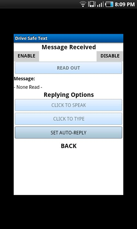 Drive Safe Text Safe- screenshot
