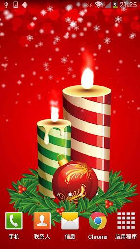圣诞蜡烛动态壁纸
