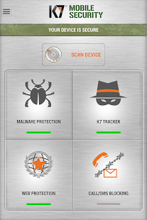 K7 Mobile Security Screenshot