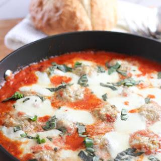 Chicken Parmesan Meatballs with Creamy Tomato Sauce