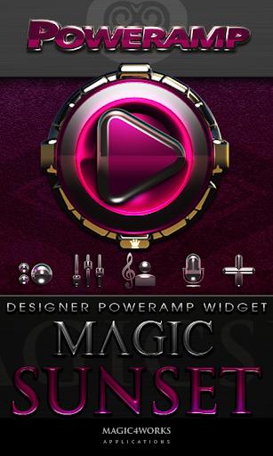 Poweramp Widget Magic Sunset