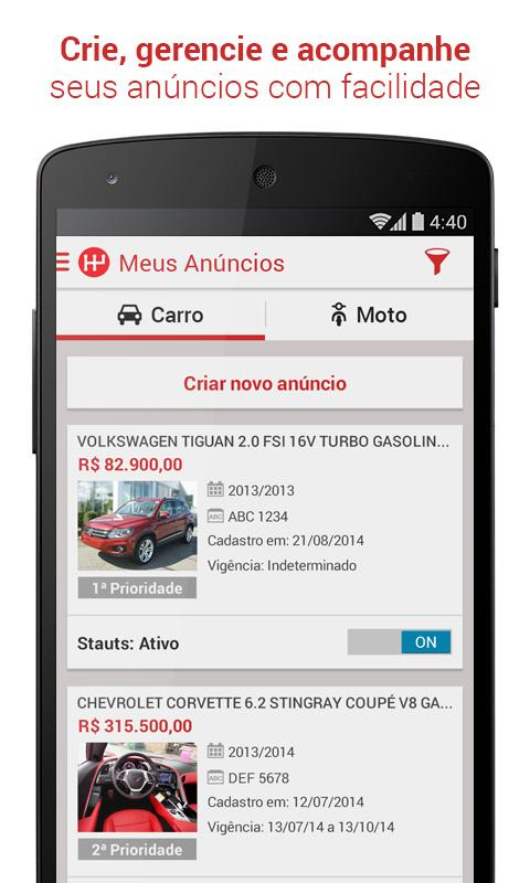 WebMotors - Comprar e Vender- screenshot