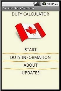 Canadian Duty Calculator- screenshot thumbnail