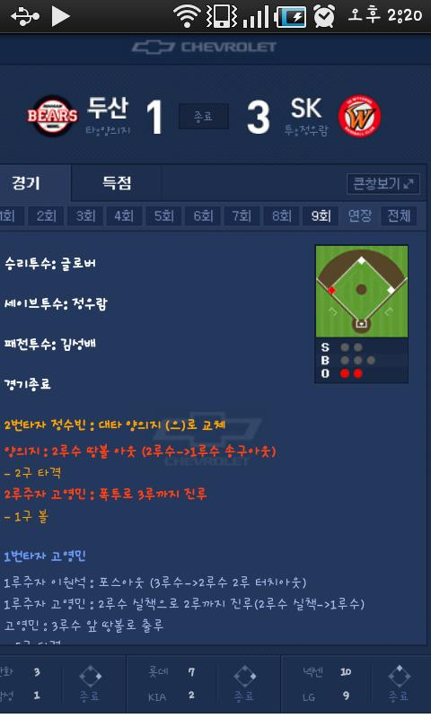 ProBaseball of South Korea- screenshot