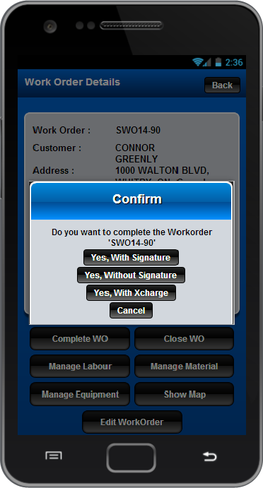 ServiceWorks - screenshot