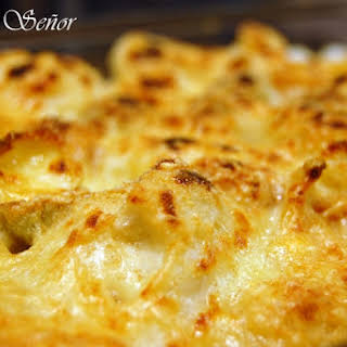 Cauliflower au Gratin with Mustard Pasta.