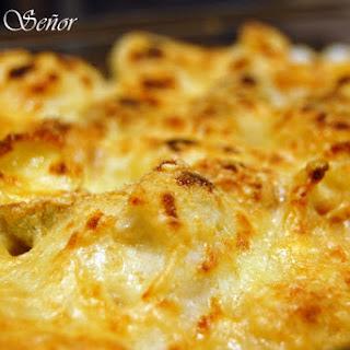 Cauliflower au Gratin with Mustard Pasta.