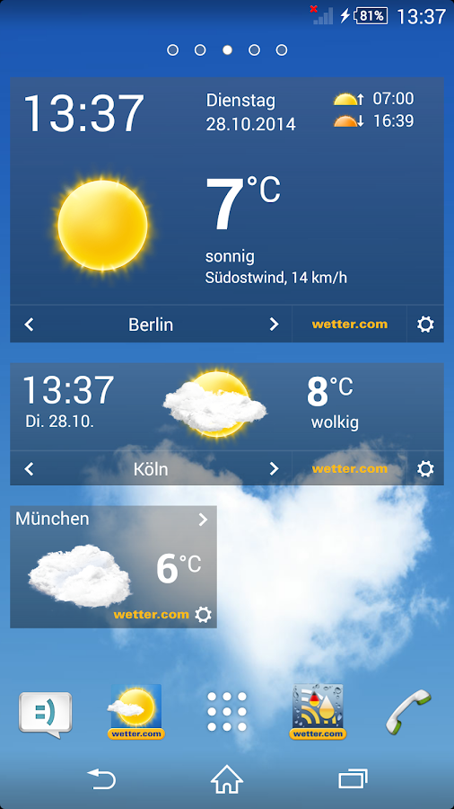 wetter.com- screenshot