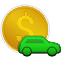Car costs accounting icon