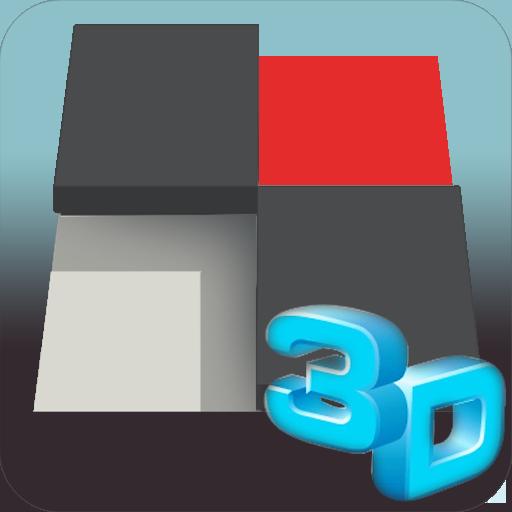 白いピアノタイル3Dをタップしないでください 休閒 App LOGO-硬是要APP