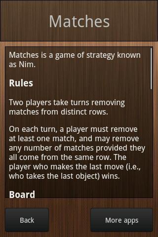 Matches- screenshot