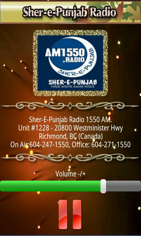 Punjabi Radio Sher-E-Punjab - screenshot