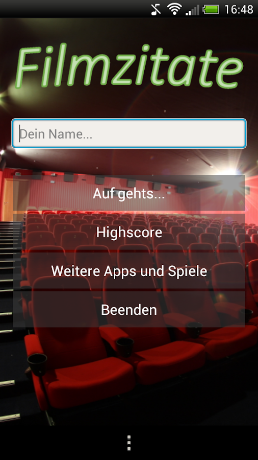 Filmzitate Quiz (GERMAN) - screenshot