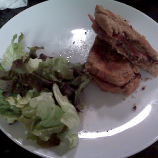 Grilled Manchego and Jamon Serrano with a Fig, Port, and Caramelized Onion Spread.