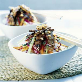 Rice Stick Noodles with Grilled Pork