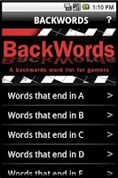 Screenshot of BackWords for Gamers