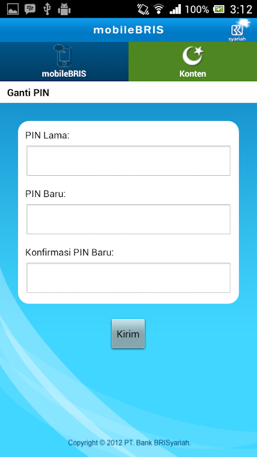 mobileBRIS- screenshot