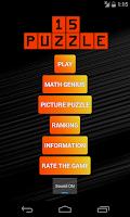 Screenshot of 15 Puzzle