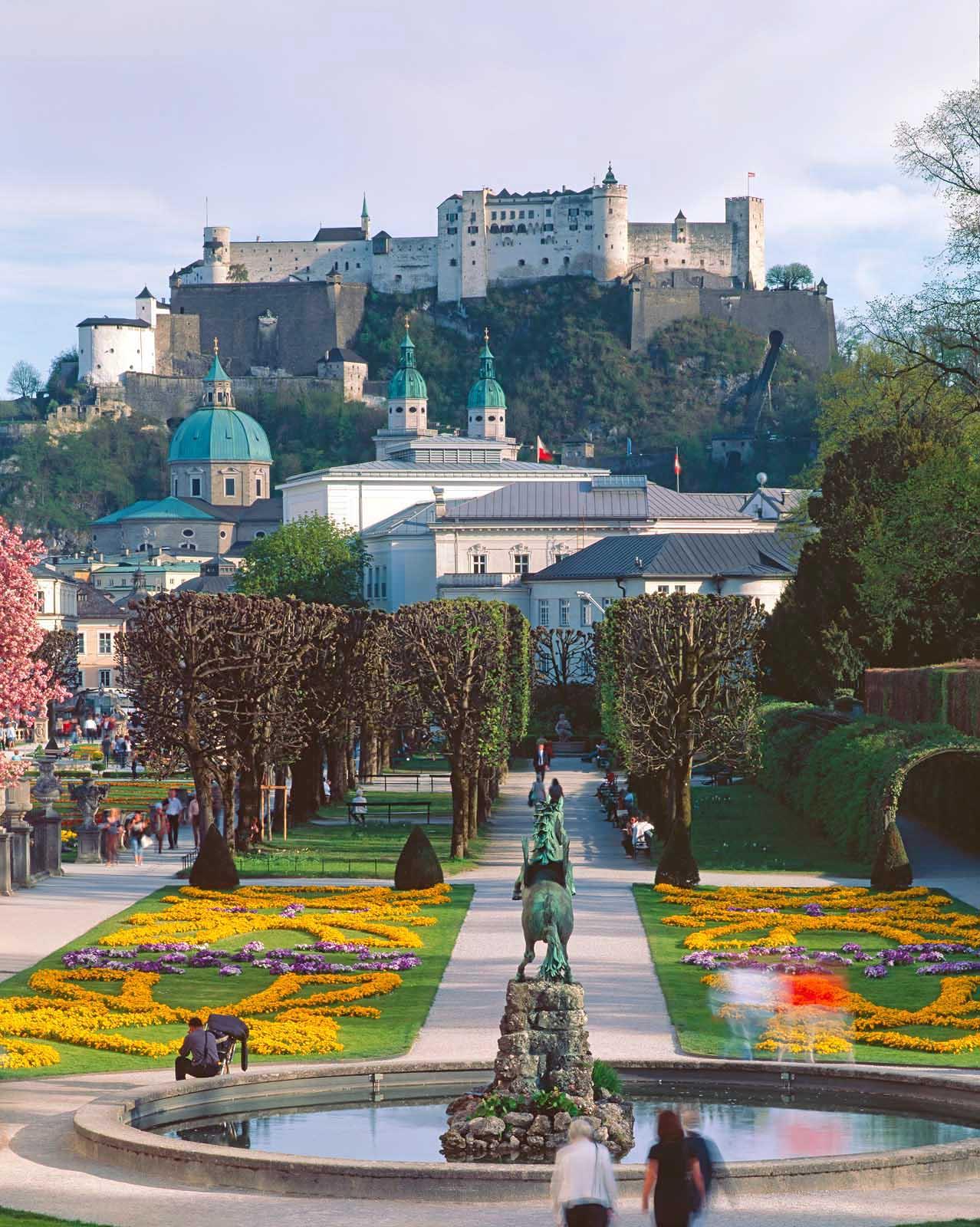 Mirabell Gardens in Salzburg, Austria.