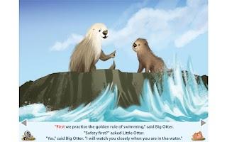 Screenshot of Little Otter Goes Fishing