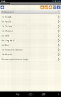 Screenshot of Shopping Grocery List - Free