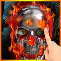 Metal Skull On Fire LWP logo