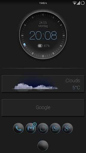 Smart clock zooper widget
