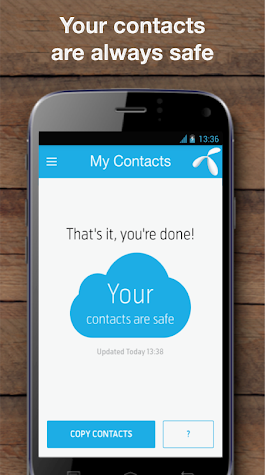 My Contacts - Phonebook Backup & Transfer App Screenshot